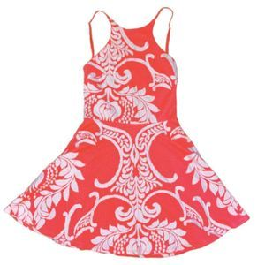 Impeccable Pig Pink Coral Embroidered Sun Dress